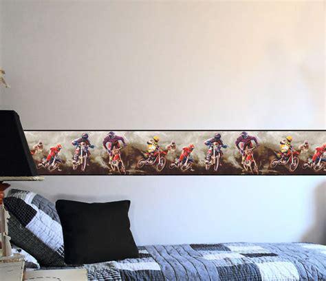 motocross bedroom wallpaper motorcross dirt bike sports 9 inches wide wall paper
