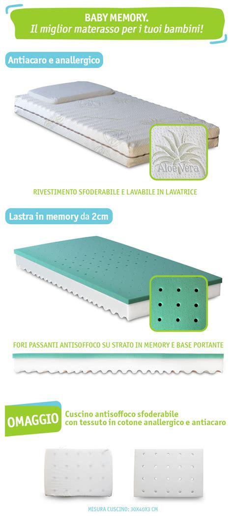 materasso bambini materasso per bambini in memory foam da 12 cm cuscino