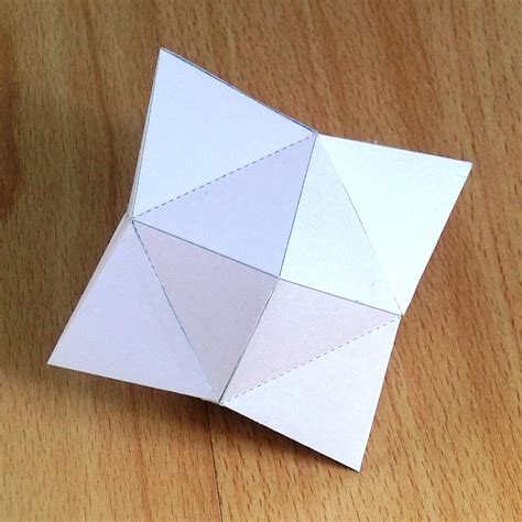 paper tetrakis hexahedron disdyakis hexahedron