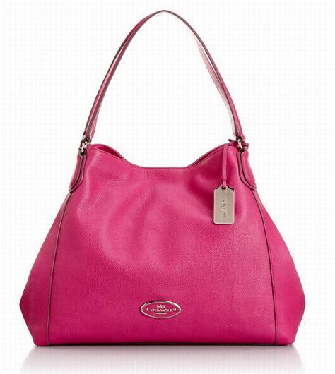 Eddie Leather Shoulder Bag by Coach 33547 Eddie Leather Shoulder Bag Fuschia Shoplinkz