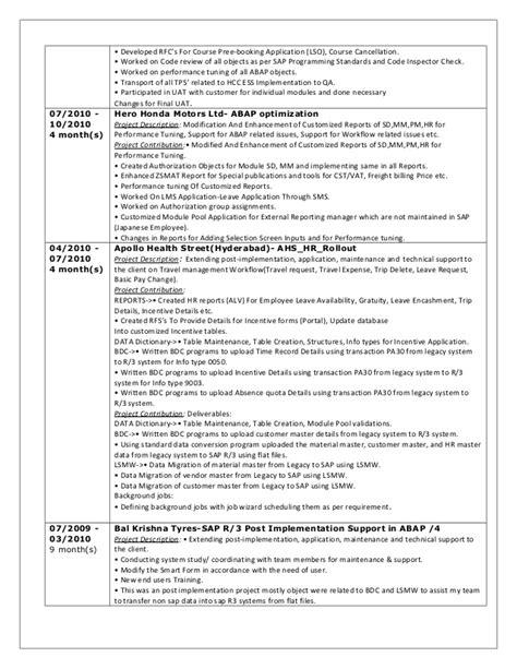 sap workflow resume sap abap workflow resume resume ideas