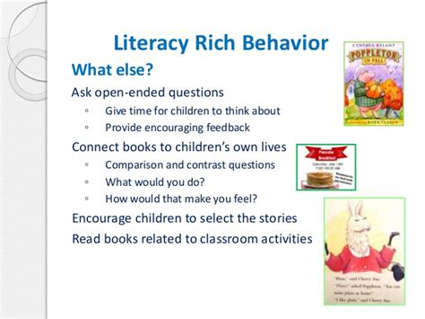 Book Review Time For Behavior By Diane Rich by Creating A Literacy Rich Environment