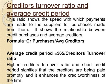 Credit Turnover Ratio Formula Turnover Ratios 1