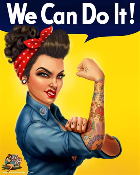 rosie the riveter 8x10 art print with text