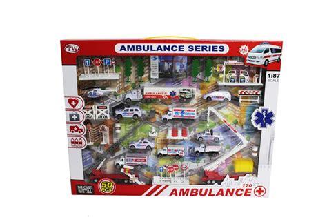 Diecast Construction Playset Isi 6pcs Die Cast Metal Se327 diecast ambulance playset