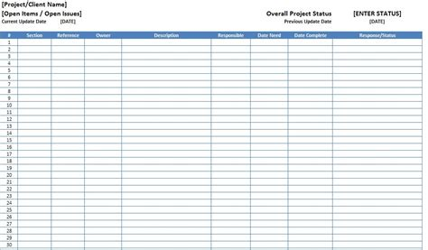item spreadsheet template free excel open items template