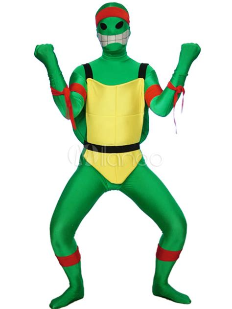 Nz 9100 Dress Turtle V green mutant turtles spandex lycra