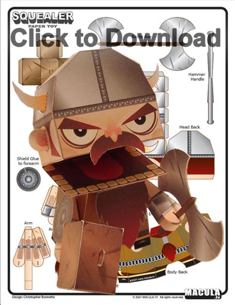 Viking Papercraft - printable viking paper