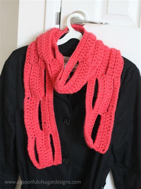 crochet pattern simple scarf easy crochet scarf free pattern a spoonful of sugar