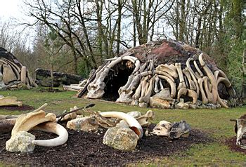 hutte en os de mammouth paleosite centre interactif de la pr 233 histoire st