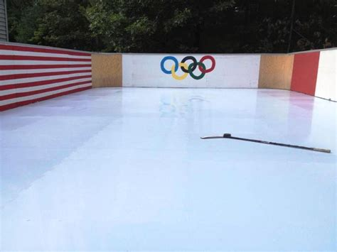 Nice Backyard Nice Smartrink Synthetic Ice Backyard Rink Built On A