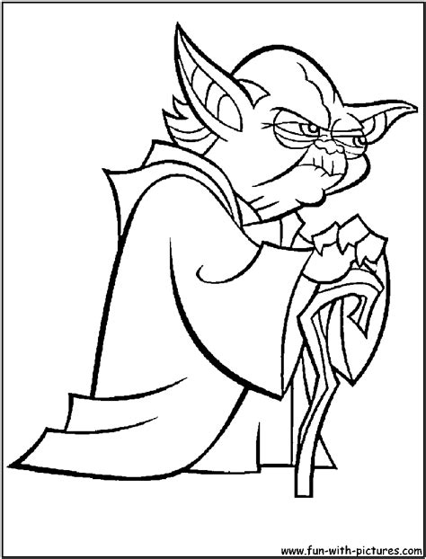 coloring pages wars yoda yoda black and white clipart clipart suggest