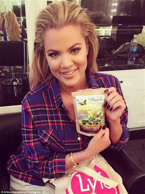 Detox Tea Instagram Promotion by Khloe Looks Fuller In The As She Promotes