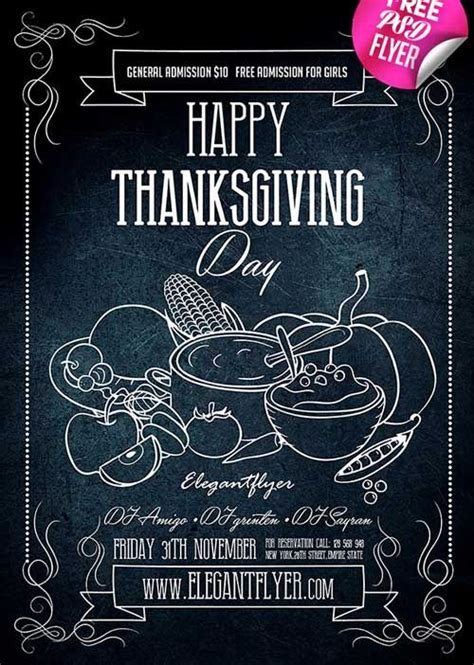 Thanksgiving Flyers Free