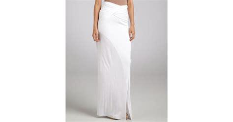 Saidah Maxi Umbrella Jersey Alijaya 1 helmut lang white jersey twist side slit maxi skirt in white lyst