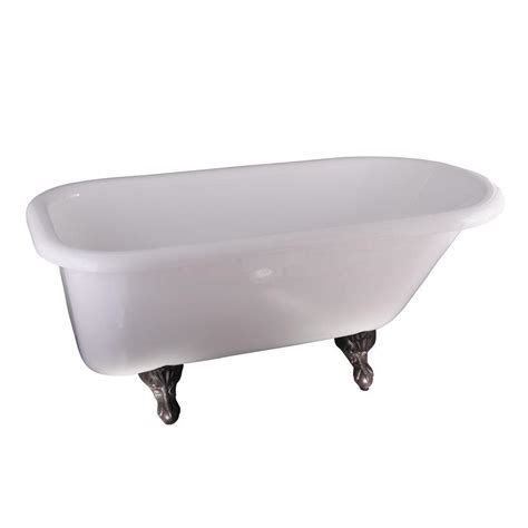 ball and claw bathtub 5 ft acrylic ball and claw feet roll top tub in white