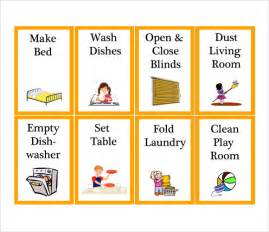 kids chore chart template 8 download free documents in