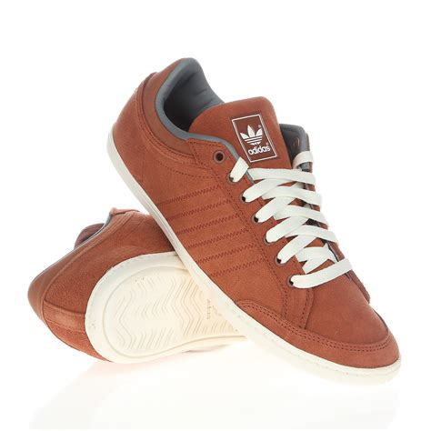 mens adidas originals plimcana clean brown leather smart casual trainers shoes ebay