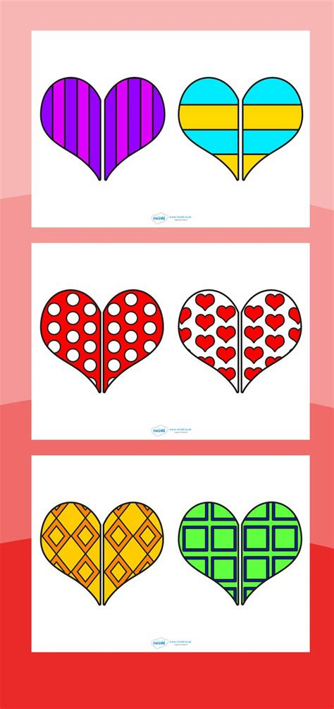 pattern memory primary games valentine heart pattern matching game printable gt gt http