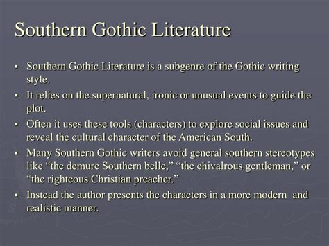 themes of southern gothic literature ppt to kill a mockingbird powerpoint presentation id