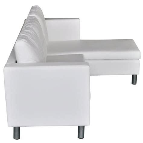 divani a l divano componibile a l in pelle artificiale bianco vidaxl it