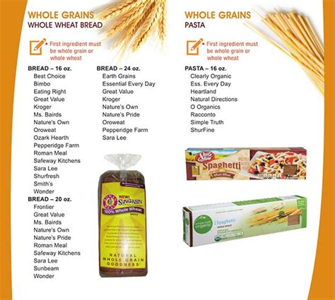 whole grains wic new mexico wic food list