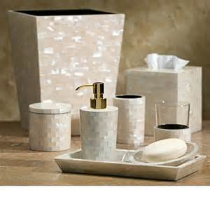 Designer Bathroom Accessories The Mother Of Pearl Designer Bathroom Vanity Set