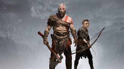 wallpaper god  war kratos atreus collectors edition