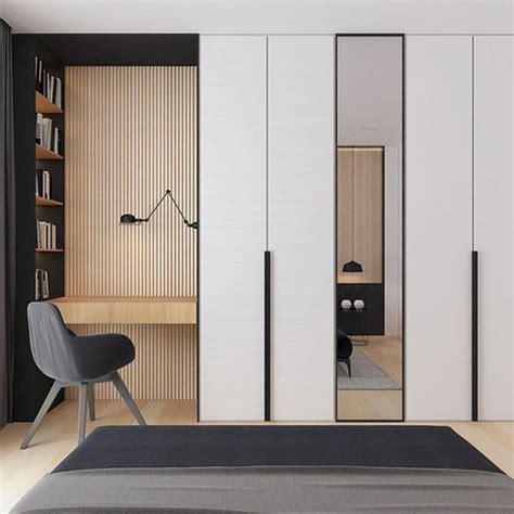 desain lemari dinding minimalis punya kamar sempit tapi butuh lemari berikut 7 tips