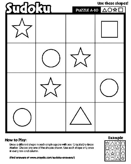 free printable kingdom sudoku sudoku a 10 coloring page crayola com