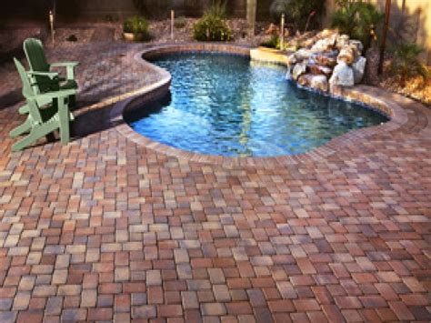 pool pavers ideas red brick patio pavers large pavers around pools patio