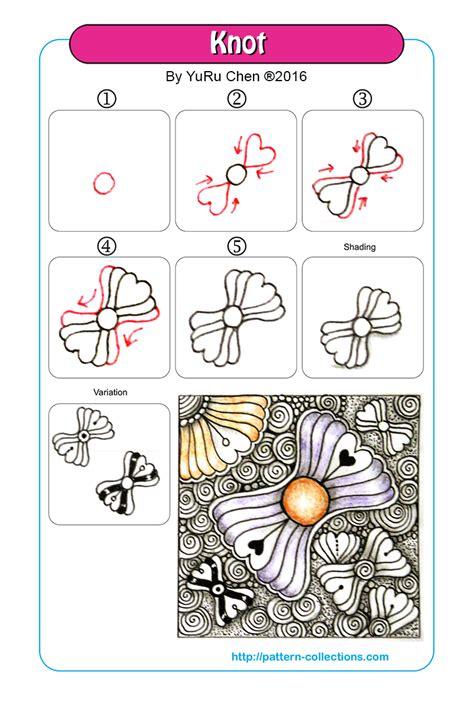 zentangle knot pattern knot tangle pattern by yuru chen patterncollections com