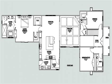 u shaped floor plans u shaped one story house u shaped house plan with