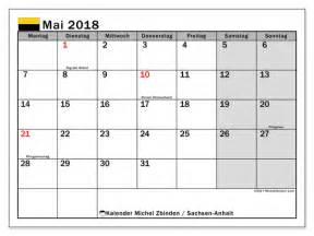 kalender zum ausdrucken mai 2018 feiertage in sachsen
