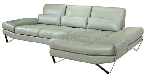 leather sofa legs grey full leather modern sectional sofa w steel legs