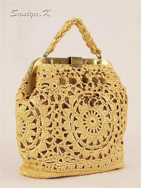 crochet ribbon bag pattern silk ribbons crochet bag crochet handbag inspiration