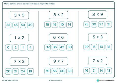 de dibujos multiplicaciones para los ninos a imprimir y colorear ficha de rodear el resultado de las multiplicaciones para