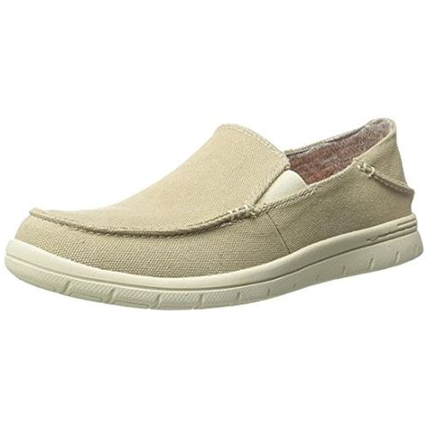 memory foam slip on shoes dockers 6434 mens ravello canvas memory foam slip on