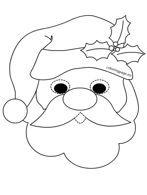 santa claus template mask santa claus template merry happy