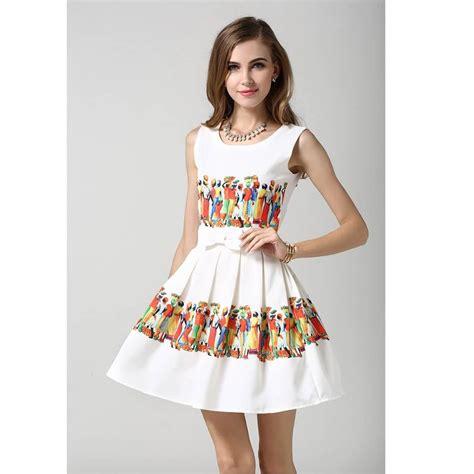 Sale Korean Boyset White Cola gown new summer dress 2015 dress 10 12
