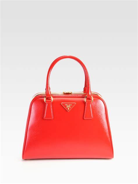 Prada Vernice Gaufre Frame Bag by Prada Saffiano Vernice Frame Pyramid Top Handle Bag In