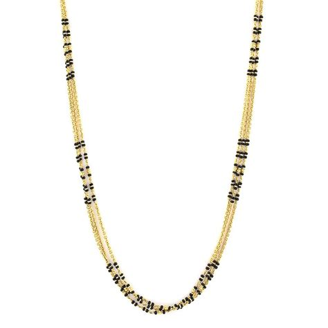 black bead chains in gold chains three strand black chain grt jewellers
