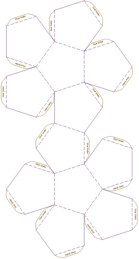 Dodecahedron Template Printable Images - modelo de dodecaedro