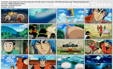 film one piece episode 1 bahasa indonesia episode 542 filler bagian 1 reuni toriko dan luffy