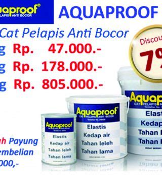 Cat Pelapis Anti Bocor Hitam Aquaproof 021 Waterproof aquaproof cat pelapis anti bocor acc bangunan