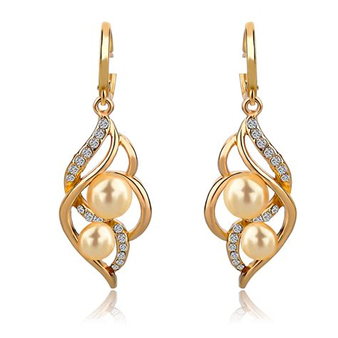 Jewelry Charm Fashion Wedding Earrings With Pearls Drop