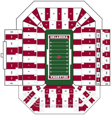 owen field seating chart stripe the stadium saturday vs ohio state oklahoma sooners
