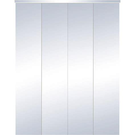 Truporte 24 In X 80 In 321 Series Steel White Mirror 24 Bifold Closet Doors