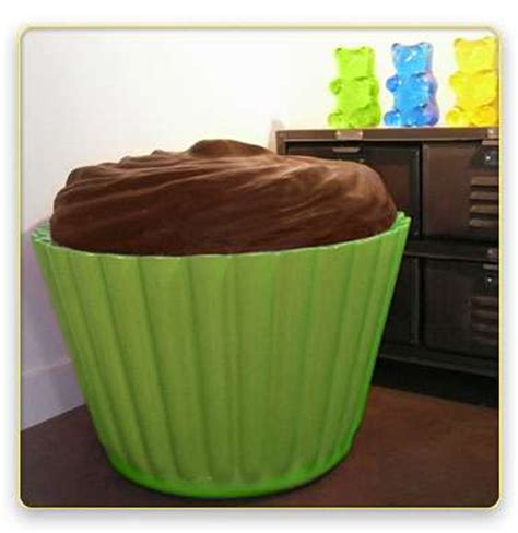 cupcake ottoman massive muffin chairs the cupcake seat can be used as a
