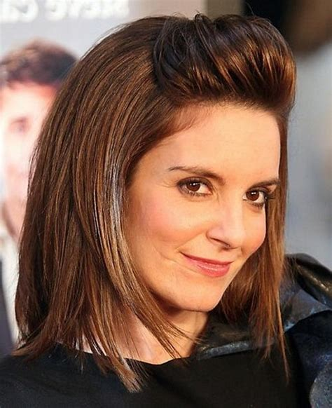 what type of hair does tina fey have 2018 latest tina fey shoulder length bob hairstyles